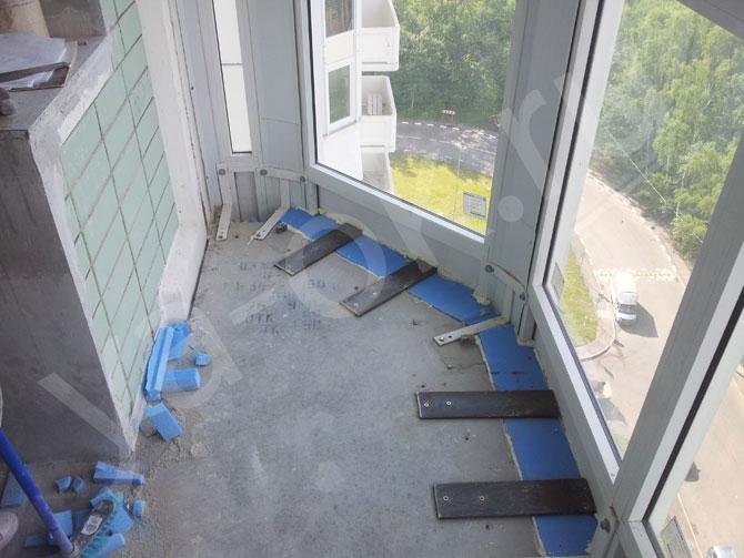 Бетонная кладка на балконе серии копэ парус - наши работы.